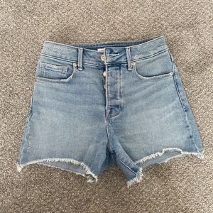 Good American denim jean shorts